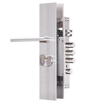 前后实心不锈面板+精铸不锈钢把手,新款防盗型锁面市